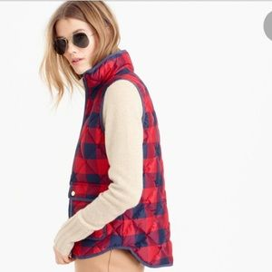 Excursion quilted plaid vest by J. Crew